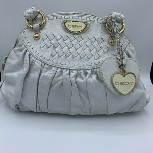 Bebe Genuine Leather satchel handbag